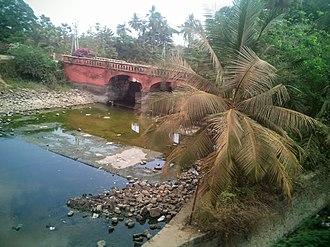 Sangam Jagarlamudi - Kommamuru canal at Sangam Jagarlamudi in Guntur district