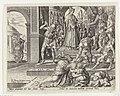 Koningin Atalja laat de koningskinderen doden Geschiedenis van Joas en koningin Atalja (serietitel), RP-P-1890-A-15408.jpg