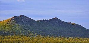 Korvatunturi - Korvatunturi seen from southwest, i.e. from the Finnish side