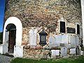 Kostel sv. Josefa (Žulová), náhrobky ve zdivu věže.JPG