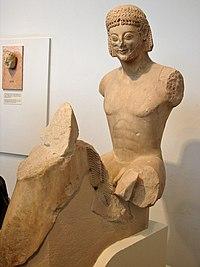 Kouros' Head to horse, Acropolis' museum, Athens.jpg