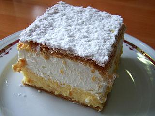 Cremeschnitte Puff pastry dessert