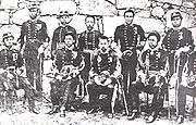 Soldiers of the Imperial Japanese Army during the Satsuma Rebellion (Garrison of Kumamoto, 1877).