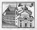 Kupferstich - Augustinerkloster Regensburg - Johann Matthias Steidlin - um 1731.jpg