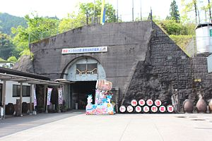 Nippō Main Line - Kuzuhara tunnel at Takachiho on the uncompleted line to Takamori