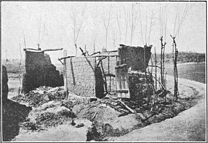 March 1st Movement - A Korean house burnt by Japanese.