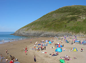 Ceredigion Coast Path - The beach at Mwnt