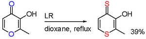 Lawesson's reagent - Maltol reaction with LR