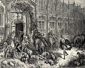 La Belle au Bois Dormant - fourth of six engravings by Gustave Doré
