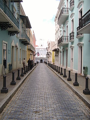 Front view of the La Fortaleza in the district...
