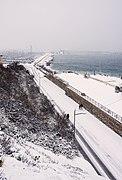 La Promenade Maréchal Leclerc et le Môle Saint-Louis sous la neige.jpg