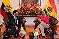 La presidenta de la Asamblea Nacional del Ecuador , Gabriela Rivadeneira, recibe a Marcelo Elio, presidente de la Cámara de Diputados de Bolivia (15946420331).jpg