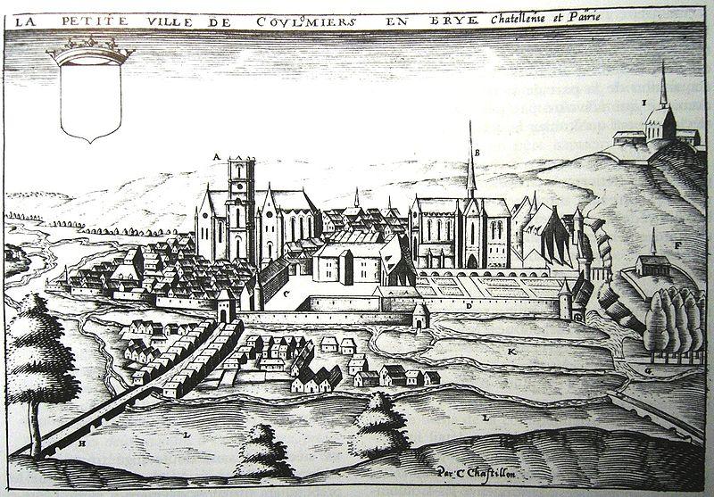Fichier:La ville de Coulommiers gravure de Chastillon de 1600.JPG