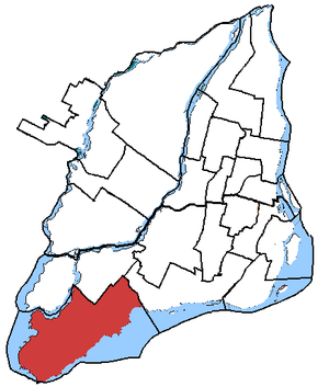 Lac-Saint-Louis (electoral district) - Lac-Saint-Louis in relation to other federal electoral districts in Montreal