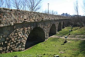 Roman bridge of Salamanca - Image: Lado romano del Puente Salamanca
