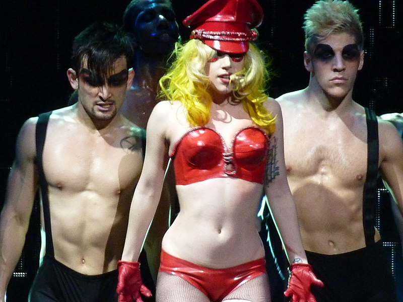 Lady Gaga performing Boys Boys Boys