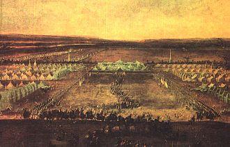 Zeithain - Image: Lager bei Zeithain 1730 von Alexander Thiele
