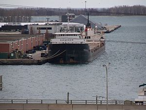 Lake freighter Quebecois, moored at the Toronto portlands -a.jpg