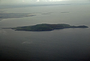 Drumanagh - The island of Lambay is just off the County Dublin coast close to Drumanagh. Some remains (Roman brooches and decorative metalware) were discovered on the island, which are thought to date to the 1st century AD. The nature of artefacts found there also demonstrated Romano-British trading.