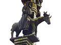 Lannédern 18 Calvaire saint Edern sur son cerf.JPG