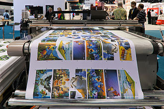 Digital printing - Large format digital printer.