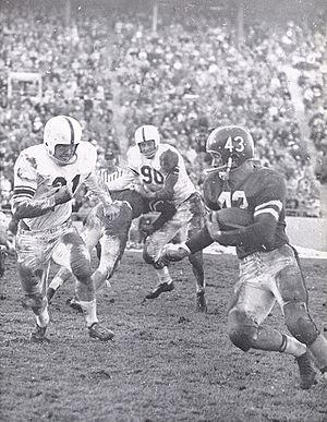 1957 Nebraska Cornhuskers football team - Halfback Larry Naviaux