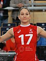 Laura Unternährer - FIVB World Championship European Qualification Women Łódź January 2014.jpg