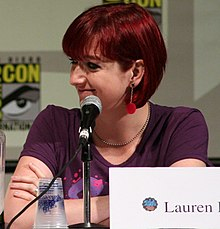 http://upload.wikimedia.org/wikipedia/commons/thumb/a/a7/Lauren_Faust.jpg/220px-Lauren_Faust.jpg