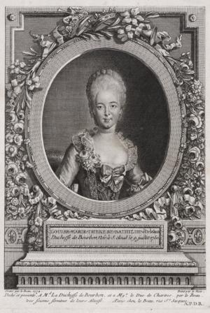 Bathilde d'Orléans - Bathilde as Duchess of Bourbon by an unknown artist