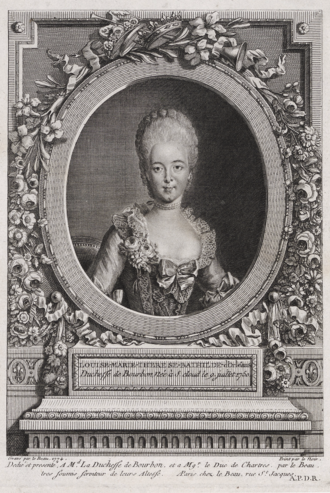 Bathilde d'Orléans - Bathilde as Duchess of Bourbon by an unknown artist