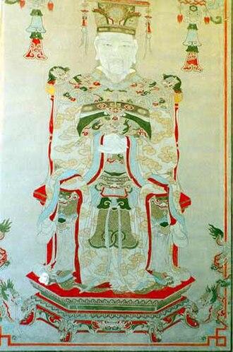 Lê Hoàn - Portrait painting of Lê Hoàn.