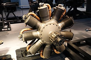 Le Rhône 9J rotary 9 cylinder piston aircraft engine