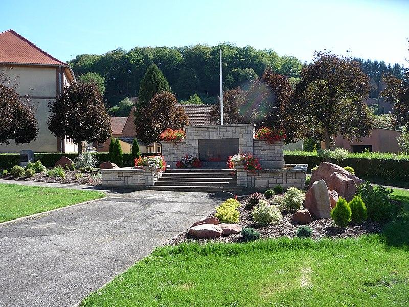 Le monument aux morts de Walschbronn