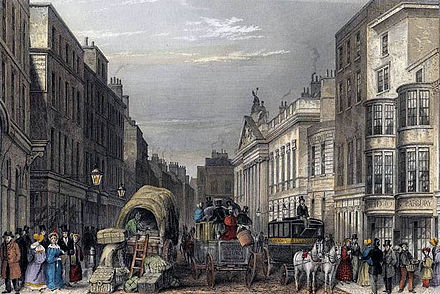 A picture of Leadenhall Street, London, c. 1837 Leadenhall Street J Hopkins.jpg