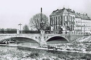 Kaczawa - The Bridge over the River Kaczawa in Legnica