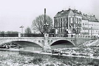 Kaczawa river mouth in Odra