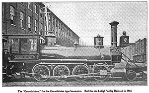 2-8-0 - Lehigh and Mahanoy Railroad's Consolidation of 1866