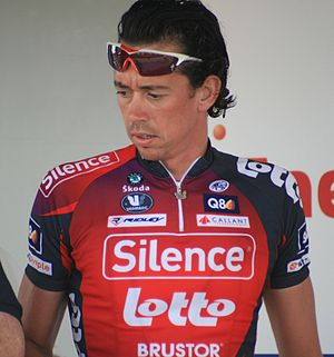 Leif Hoste - Hoste at the 2008 Eneco Tour.