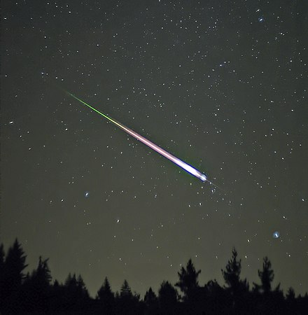 A Leonid meteor, seen in the 2009 Leonid Meteor Shower. - Meteoroid