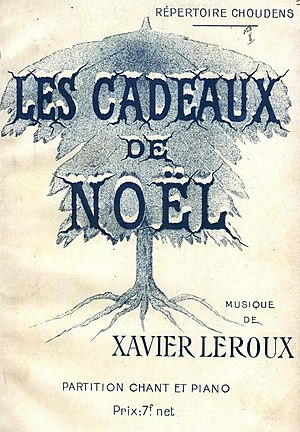 Les cadeaux de Noël - Cover of the piano/vocal score published by Éditions Choudens in 1915