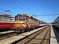 Levice, nádraží, vlak s lokomotivou 240.004.jpg