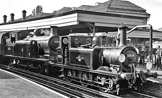 Lewes railway station - RCTS Sussex Rail Tour in 1962