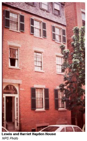 Lewis and Harriet Hayden House - Lewis and Harriet Hayden House, 66 Phillips Street, Boston (now a private residence), abolitionists, Underground Railroad station.