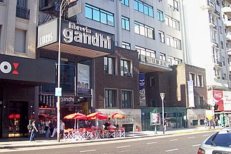 Avenida Corrientes - Gandhi Bookstore (now defunct). The avenue continues to be a book browser's mecca.