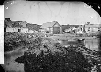 Bull Bay, Anglesey - Life boat house, Porth Llechog, photographed around 1875