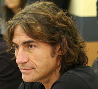 Luciano Ligabue - Ligabue during a press conference in Verona, Italy