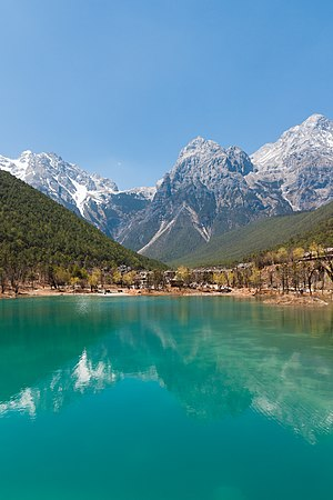 Jade Dragon Snow Mountain - Image: Lijiang Yunnan China View of Jade Dragon Mountain 01