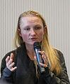 Lila Tretikov meets italian Wikimedians in Milan (february 2015).JPG