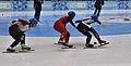 Lillehammer 2016 - Short track 1000m - Men Finals - Daeheon Hwang, Wei Ma, Shaoang Liu, Kiichi Shigehiro and Andras Sziklasi 4.jpg