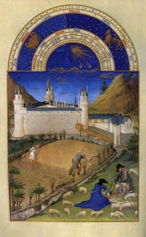Limbourg brothers - Les très riches heures du Duc de Berry - Juillet (July) - WGA13024